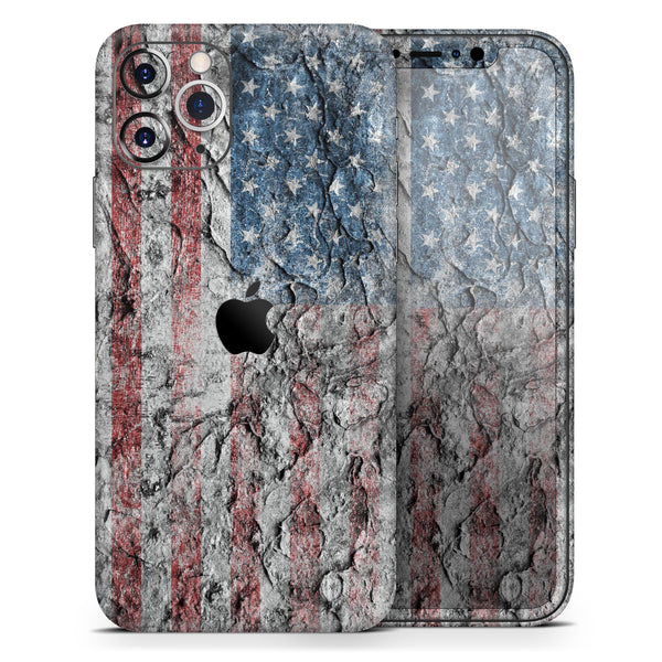 Aged and Wrinkled American Flag - Skin-Kit for the Apple iPhone 11, 11 Pro or 11 Pro Max