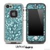 Paisley Seamless Turquoise V3 Skin for the iPhone 5 or 4/4s LifeProof Case