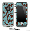 Paisley Seamless Brown & Turquoise Skin for the iPhone 5 or 4/4s LifeProof Case