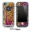 Vibrant Striped Cheetah Animal Print Skin for the iPhone 5 or 4/4s LifeProof Case