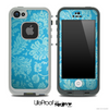 Paisley Seamless Blue V3 Skin for the iPhone 5 or 4/4s LifeProof Case