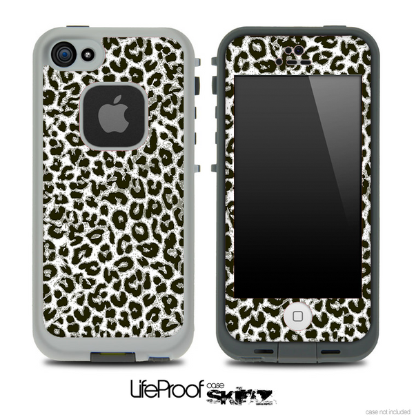 Neutral Cheetah Print Vector V3 Skin for the iPhone 5 or 4/4s LifeProof Case