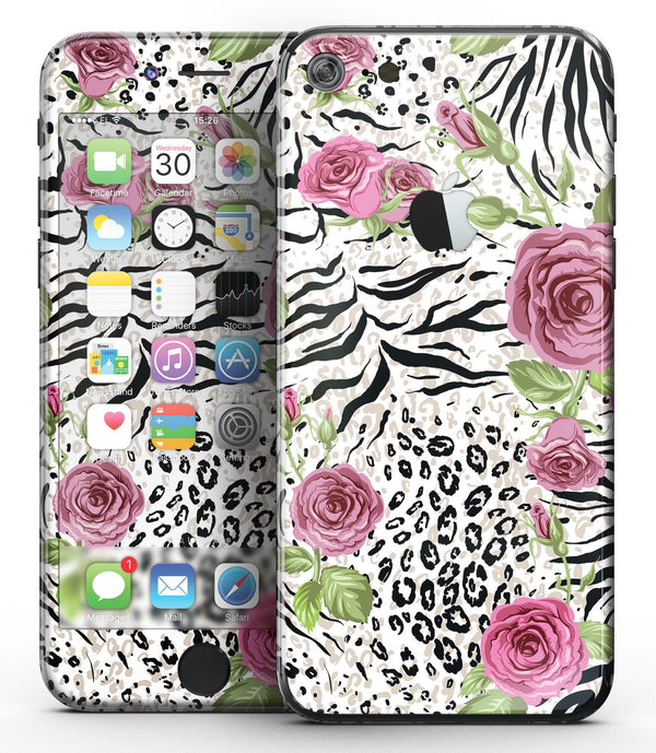 Animal Vibe Floral - Sectioned Skin-Kit for the iPhone 7 or 7 Plus