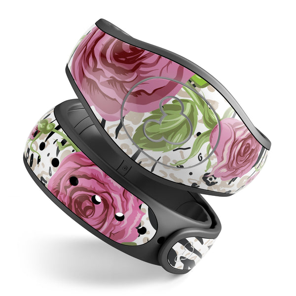 Animal Vibe Floral - Decal Skin Wrap Kit for the Disney Magic Band