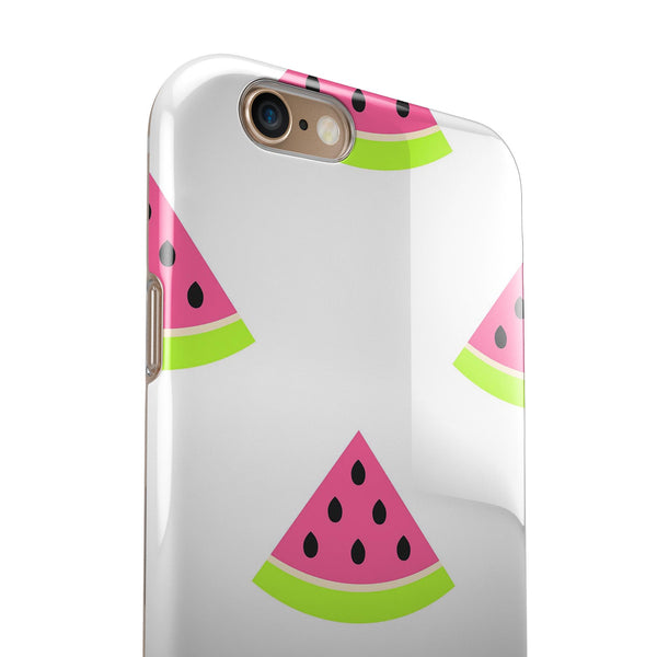 Animated Watermelon Pattern iPhone 6/6s or 6/6s Plus 2-Piece Hybrid INK-Fuzed Case