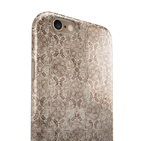 Antique Cocoa Rose Table iPhone 6/6s or 6/6s Plus 2-Piece Hybrid INK-Fuzed Case