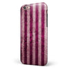 Antique Magenta and Pink Vertical Stripes iPhone 6/6s or 6/6s Plus 2-Piece Hybrid INK-Fuzed Case