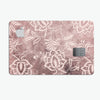 Antique Marron Floral Damask Pattern - Premium Protective Decal Skin-Kit for the Apple Credit Card