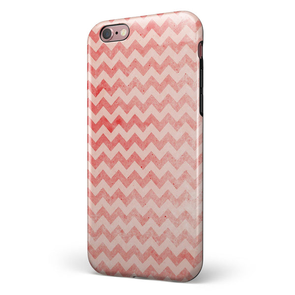 Antique Red Blush Chevron Pattern iPhone 6/6s or 6/6s Plus 2-Piece Hybrid INK-Fuzed Case