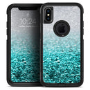 Aqua Blue & Silver Glimmer Fade - Skin Kit for the iPhone OtterBox Cases