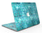 Aqua Sorted Large Watercolor Polka Dots - MacBook Air Skin Kit