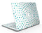 Aqua Watercolor Dots over White - MacBook Air Skin Kit
