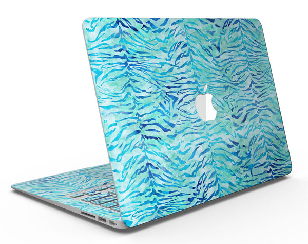 Aqua Watercolor Tiger Pattern - MacBook Air Skin Kit