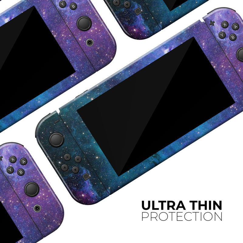 Azure Nebula - Full Body Skin Decal Wrap Kit for Nintendo Switch Console & Dock, Pro Controller, Switch Lite, 3DS XL, 2DS XL, DSi, Wii