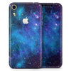 Azure Nebula - Skin-Kit for the Apple iPhone XR, XS MAX, XS/X, 8/8+, 7/7+, 5/5S/SE (All iPhones Available)