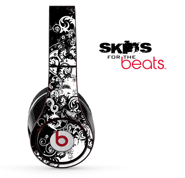 Abstract Black & White Swirls Skin for the Beats by Dre