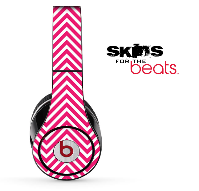 Hot Pink Chevron Pattern Skin for the Beats by Dre Solo, Studio, Wireless, Pro or Mixr