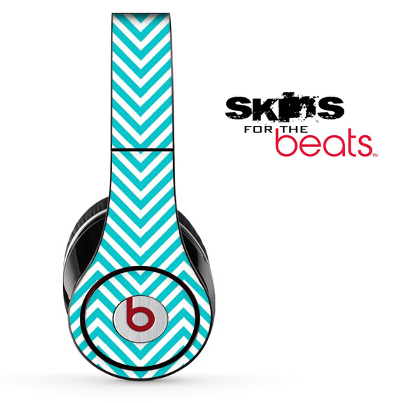Aqua Blue Chevron Pattern Skin for the Beats by Dre Solo, Studio, Wireless, Pro or Mixr