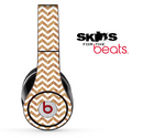 White and Wood Chevron Pattern Skin for the Beats by Dre Solo, Studio, Wireless, Pro or Mixr