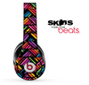 Abstract Neon Chevron Pattern Skin for the Beats by Dre Solo, Studio, Wireless, Pro or Mixr