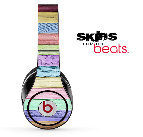 Abstract Color Wood Skin for the Beats by Dre Solo, Studio, Wireless, Pro or Mixr