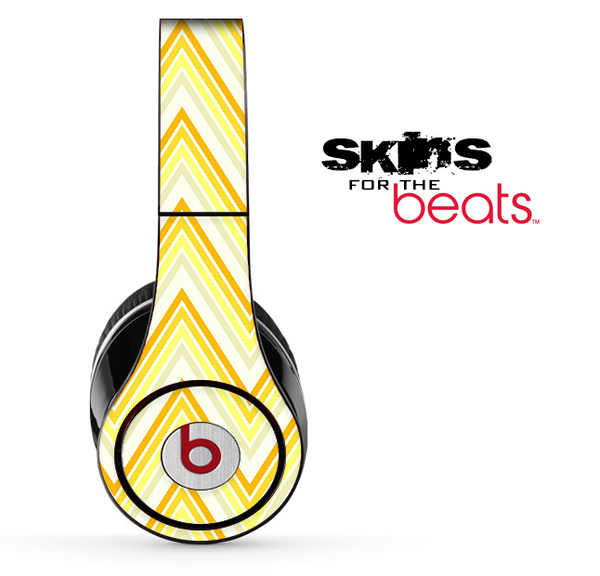 Vintage Yellow Chevron Skin for the Beats by Dre Solo, Studio, Wireless, Pro or Mixr