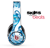 Abstract Blue Swirled V4 Skin for the Beats by Dre Solo, Studio, Wireless, Pro or Mixr
