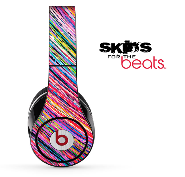 Abstract Color Strokes Skin for the Beats by Dre Solo, Studio, Wireless, Pro or Mixr