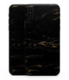 Black & Gold Marble Swirl V10 - iPhone XS MAX, XS/X, 8/8+, 7/7+, 5/5S/SE Skin-Kit (All iPhones Available)