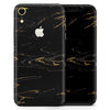 Black & Gold Marble Swirl V10 - Skin-Kit for the Apple iPhone XR, XS MAX, XS/X, 8/8+, 7/7+, 5/5S/SE (All iPhones Available)