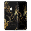 Black & Gold Marble Swirl V1 - Skin-Kit for the Apple iPhone XR, XS MAX, XS/X, 8/8+, 7/7+, 5/5S/SE (All iPhones Available)