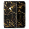 Black & Gold Marble Swirl V3 - Skin-Kit for the Apple iPhone XR, XS MAX, XS/X, 8/8+, 7/7+, 5/5S/SE (All iPhones Available)