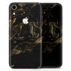 Black & Gold Marble Swirl V4 - Skin-Kit for the Apple iPhone XR, XS MAX, XS/X, 8/8+, 7/7+, 5/5S/SE (All iPhones Available)