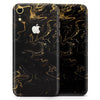 Black & Gold Marble Swirl V6 - Skin-Kit for the Apple iPhone XR, XS MAX, XS/X, 8/8+, 7/7+, 5/5S/SE (All iPhones Available)