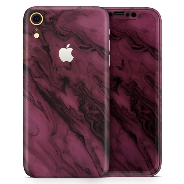 Black & Pink Marble Swirl V1 - Skin-Kit for the Apple iPhone XR, XS MAX, XS/X, 8/8+, 7/7+, 5/5S/SE (All iPhones Available)