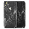 Black & Silver Marble Swirl V1 - Skin-Kit for the Apple iPhone XR, XS MAX, XS/X, 8/8+, 7/7+, 5/5S/SE (All iPhones Available)
