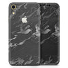 Black & Silver Marble Swirl V3 - Skin-Kit for the Apple iPhone XR, XS MAX, XS/X, 8/8+, 7/7+, 5/5S/SE (All iPhones Available)