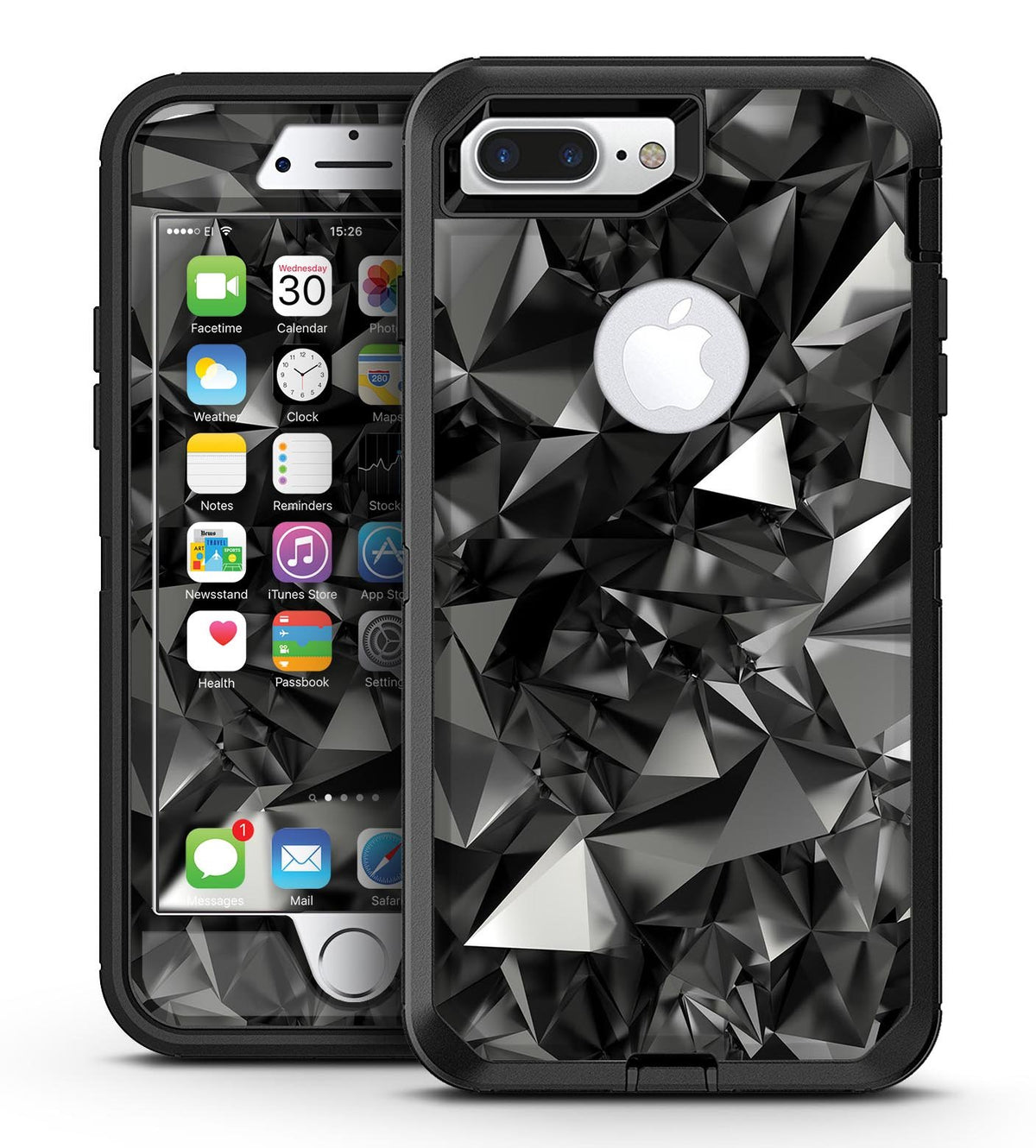newest collection 25f99 f21f5 Black 3D Diamond Surface - iPhone 7 Plus/8 Plus OtterBox Case & Skin Kits