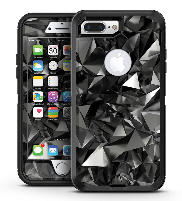 Black 3D Diamond Surface - iPhone 7 Plus/8 Plus OtterBox Case & Skin Kits