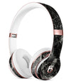 Black Scratched Marble Full-Body Skin Kit for the Beats by Dre Solo 3 Wireless Headphones