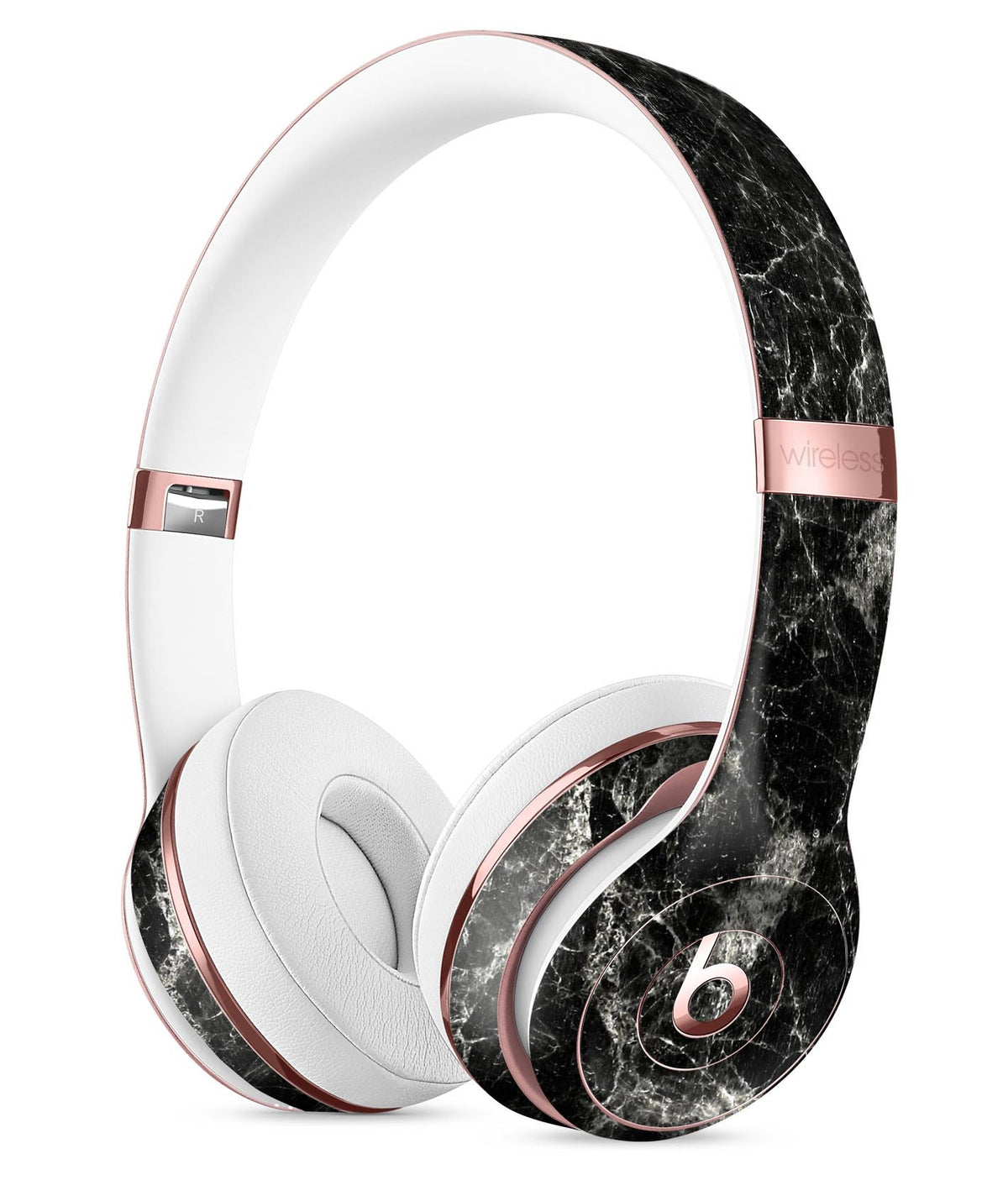 Black Scratched Marble Full-Body Skin Kit for the Beats by Dre Solo 3 -  DesignSkinz 1ddef2a7c572