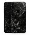 Black Scratched Marble - iPhone XS MAX, XS/X, 8/8+, 7/7+, 5/5S/SE Skin-Kit (All iPhones Available)