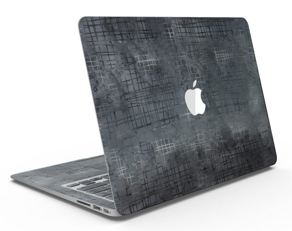 Black Watercolor Cross Hatch - MacBook Air Skin Kit