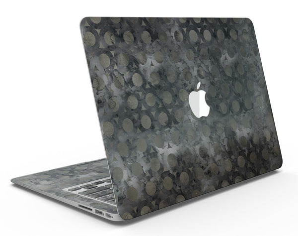 Black Watercolor Ring Pattern - MacBook Air Skin Kit