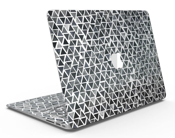 Black Watercolor Triangle Pattern - MacBook Air Skin Kit