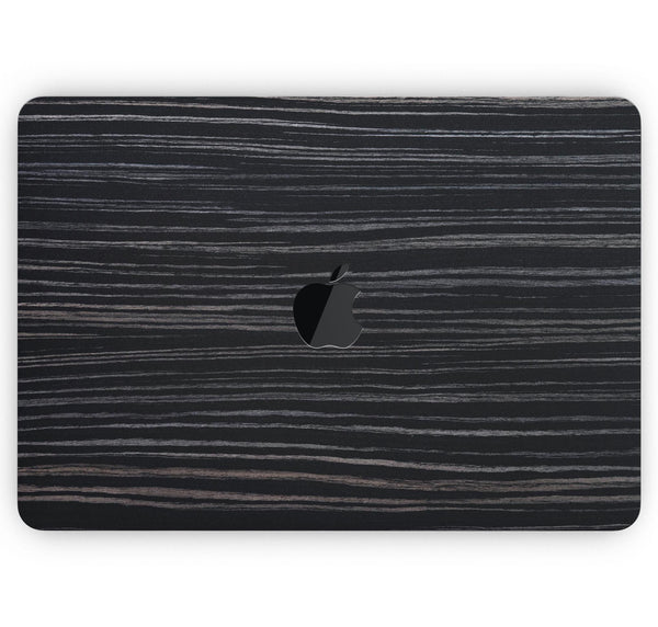 "Black Wood Texture - Skin Decal Wrap Kit Compatible with the Apple MacBook Pro, Pro with Touch Bar or Air (11"", 12"", 13"", 15"" & 16"" - All Versions Available)"