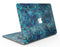 Black and Blue Damask Watercolor Pattern - MacBook Air Skin Kit