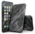 Black and Chalky White Marble - 4-Piece Skin Kit for the iPhone 7 or 7 Plus