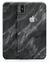Black and Chalky White Marble - iPhone X Skin-Kit
