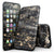 Black and Gold Marble Surface - 4-Piece Skin Kit for the iPhone 7 or 7 Plus